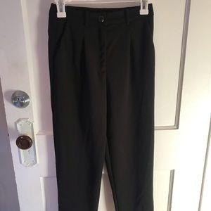 High-waisted Crop Dress Pants